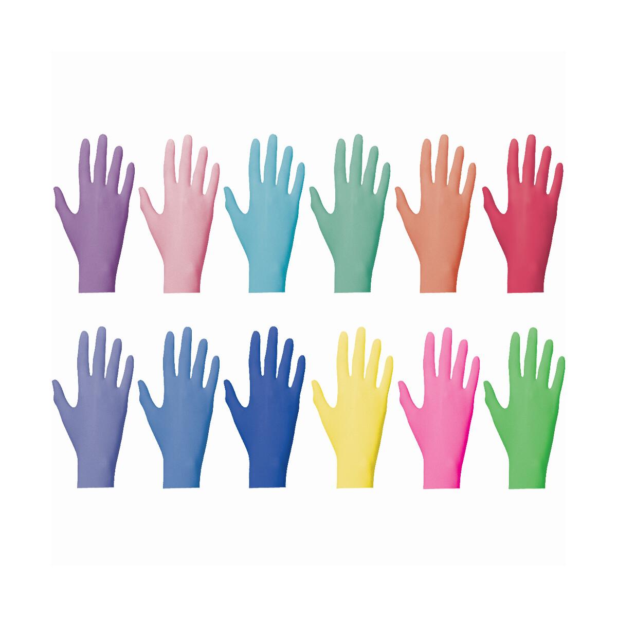 Bunte Farbige Einmalhandschuhe Nitril Color Line G 252 Nstig